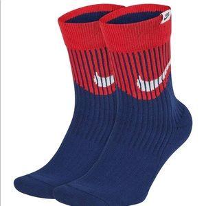Men's Nike 2-pack SNKR Sox Swoosh Crew Socks